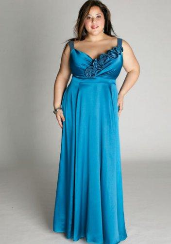 plus size evening dress Aphrodite Gown in Sea Breeze