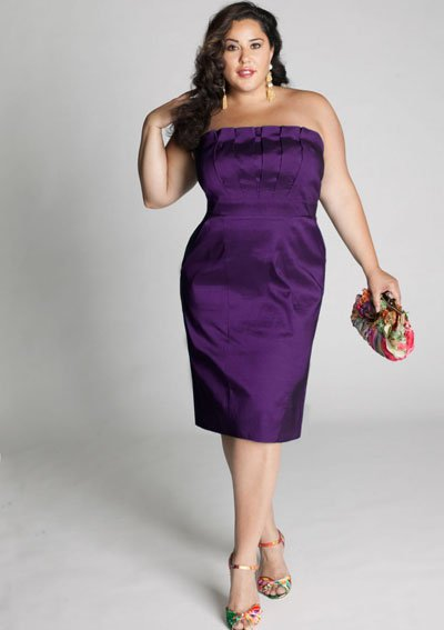 plus size evening dress Cybelle Cocktail Dress in Orchid