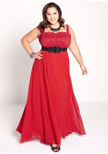 plus size evening dress Estrella Gown in Red
