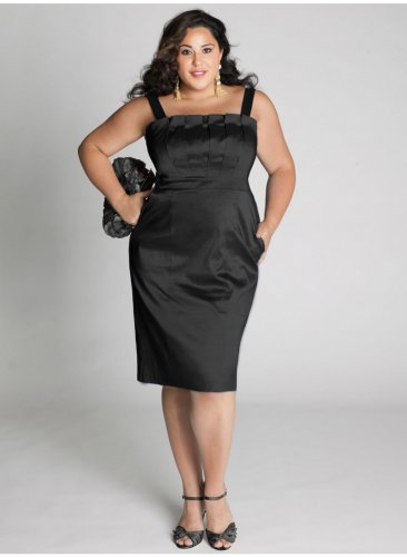 plus size evening dress Cybelle Cocktail Dress in Black