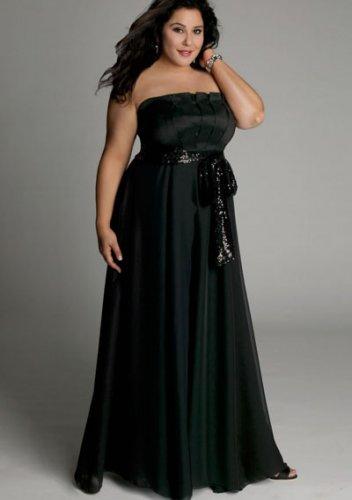 plus size evening dress Estrella Gown in Black