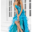 Organza Sweetheart Strapless Neckline Cheap Prom Dresses