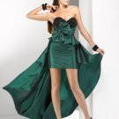 Stylish Strapless Sweetheart Beaded A-Line High-Low Cheap Prom Dresses