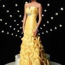 asymmetrical pick up skirt 2012 Long Prom Dresses
