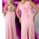 V Neck Sweetheart Long Pink Plus Size Prom Dresses