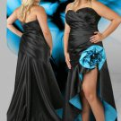 Long V Neck Sweetheart Strapless Black Plus Size Prom Dresses