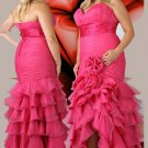 V Neck Strapless Long Sweetheart Plus Size Prom Dresses