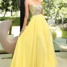 A Line Chiffon Sweep Prom Dresses 2013