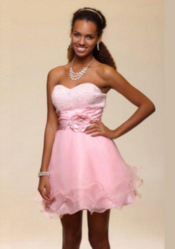 A-line Sweetheart Short/Mini Organza Short Prom Dresses