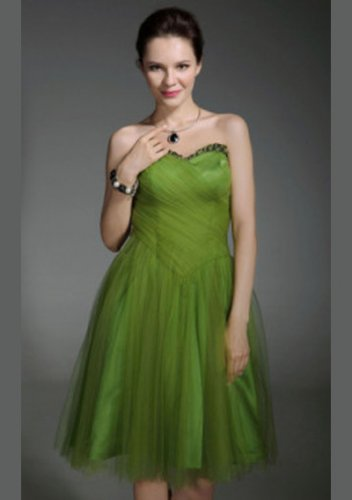 Tulle A-line Sweetheart Knee-length Short Prom Dresses