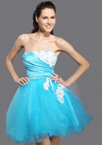 Ball Gown Strapless Short/ Mini Short Prom Dresses