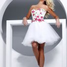 organza Strapless Sweetheart Neckline A-Line  cheap cocktail dresses