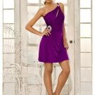 Chiffon One-Shoulder Strap Bodice cheap cocktail dresses