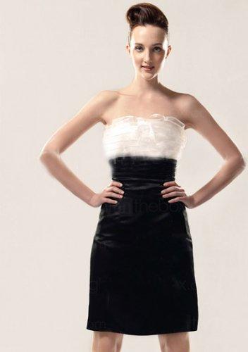 Strapless Knee-length cocktail dresses for weddings