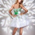 Sweetheart Neckline Waistband A-Line 2012 Short Cocktail Dresses
