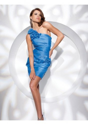 Asymmetrical Neckline 2012 Short Cocktail Dresses
