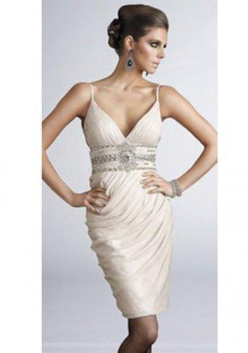Sheath V-neck Short/Mini Short Cocktail Dresses