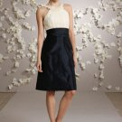 A line chiffon halter bodice with satin skirt Cheap Party Dresses
