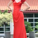 Dark Red Floor Length Appliqued Party Dresses For Girls
