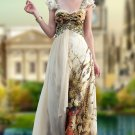 Party Dresses For Girls Leopard Skin Liked Printed Off Shoulder Light Chiffon Prom Dresses