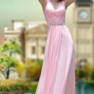 Party Dresses For Girls Pink Ruffle V-Neck Sweep Celebrity Dresses