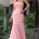 Sexy Floor Length One Shoulder Pink Party Dresses For Women