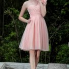 Shoulder pink evening dresses Short Party Dresses