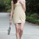 Beige Short Party Dresses mini dresses