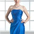 Sheath Strapless Short/Mini Satin Homecoming Dresses
