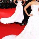 Elegant Column/Sheath Strapless Celebrity Dresses