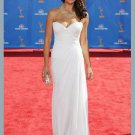 Celebrity Sheath/Column Sweetheart Strapless White  Celebrity Dresses
