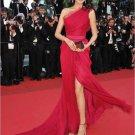 Beautiful One shoulder Floor length Sleeveless Sweep  Celebrity Dresses