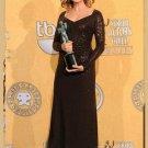 Long-Sleeves V-Neckline Floor-Length Embroidery Celebrity Dresses
