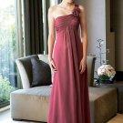 One-Shoulder Floor-Length Chiffon Bridesmaid Dresses