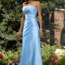 A-Line/Princess Strapless Floor-Length Taffeta Bridesmaid Dresses