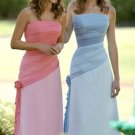 A-Line/Princess Strapless Floor-Length Chiffon Bridesmaid Dresses