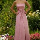 A-Line/Princess Strapless Floor-Length Satin Bridesmaid Dresses
