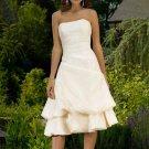 Strapless Knee-Length Taffeta Bridesmaid Dresses