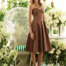 Sweetheart Knee-Length Satin Bridesmaid Dresses