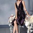 A-Line/Princess V-neck Knee-Length Taffeta Bridesmaid Dresses