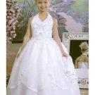 nek v halter organza gown style sell hot flower girl dresses
