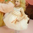 Ball gown Strapless Knee-length Satin Organza flower girl dresses