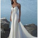 A-line with strape beach wedding dresses