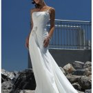 Straight neckline a-line wedding dresses