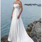 Straples Princess Empire Beach Taffeta Wedding Dresses