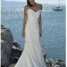 Mermaid Strapless Beach Chiffon Wedding Dresses