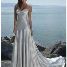 A-line Empire Sweetheart Neckline Beach Wedding Dresses