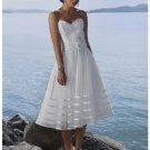 A-Line Straples Knee Length Beach Wedding Dresses