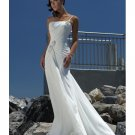 Empire Waist One Shoulder Chiffon Beach Wedding Dresses