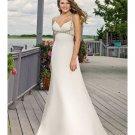 Sheath Beach Wedding Dresses with Pleats Floor Length